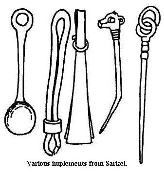 Various  implements from Sarkel
